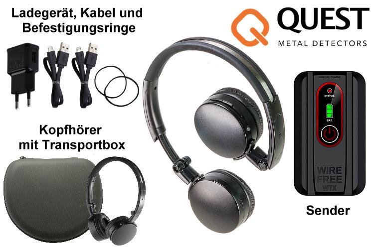 Funkkopfhörer für Metalldetektor